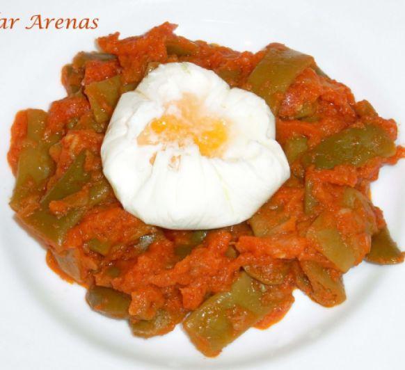 Judias verdes con tomate y huevos flor con Thermomix® : Pilar Arenas, Ciudad Real