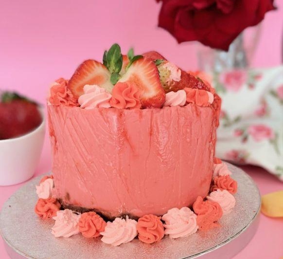 Cheesecake fresa. Rosa Fernandez Garcia. Desde Ciudad Real