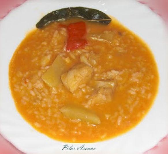 Patatas con arroz y bacalao con Thermomix® : Pilar Arenas, Ciudad Real