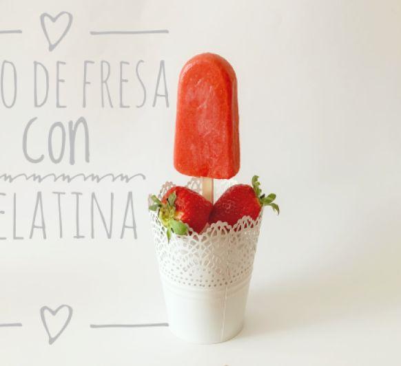 Polos de Fresa con Gelatina con Thermomix® .Rosa Fernández desde Ciudad Real