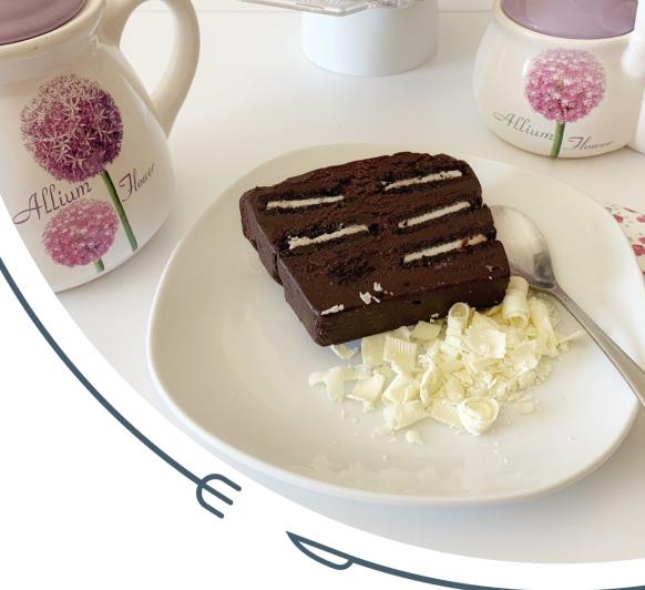 Pastel helado de chocolate con galletas chocolate Thermomix® .Rosa Fernández desde Ciudad Real