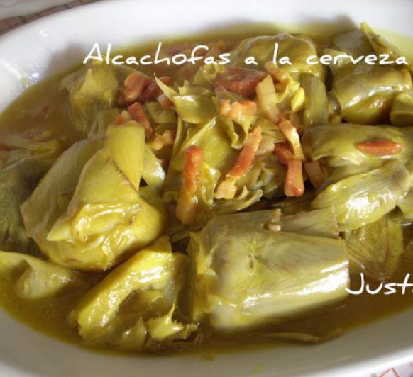 Alcachofas a la cerveza Thermomix® Ciudad Real-Justa Molina