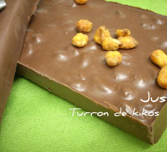 Turron de chocolate con kikos-Thermomix® Justa Molina Ciudad Real