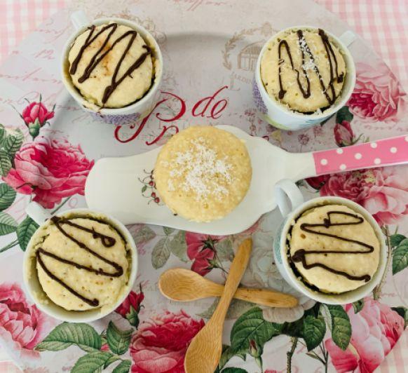 MUG CAKE DE COCO.Rosa María Fernandez Garcia .Desde Ciudad Real
