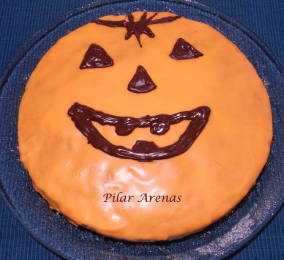 Bizcocho de calabaza con glasa para Halloween con Thermomix® : Pilar Arenas, Ciudad Real